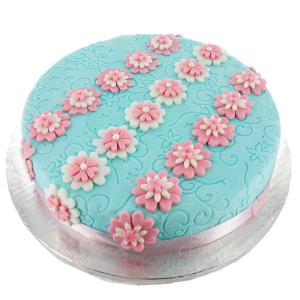 gâteau en pâte à sucre bleu ciel | cerfdellier le blog