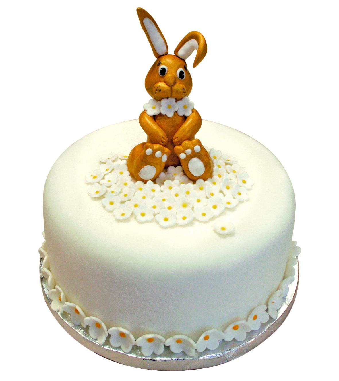 Id es pour faire un g teau de p ques en p te sucre for Decoration lapin de paques