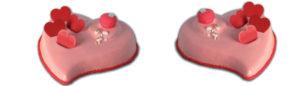 Cheesecake Coeur Valentine