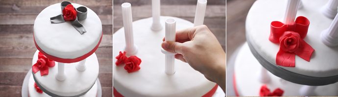 Materiel Superposer Wedding Cake