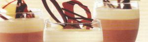 Verrines bavarois aux 3 chocolats