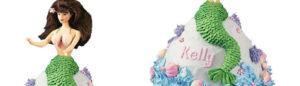 Le gâteau sirène avec le kit moule poupée Wilton
