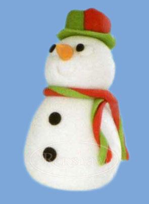 L igloo de no l en p te sucre cerfdellier le blog - Bonhomme de neige polystyrene ...