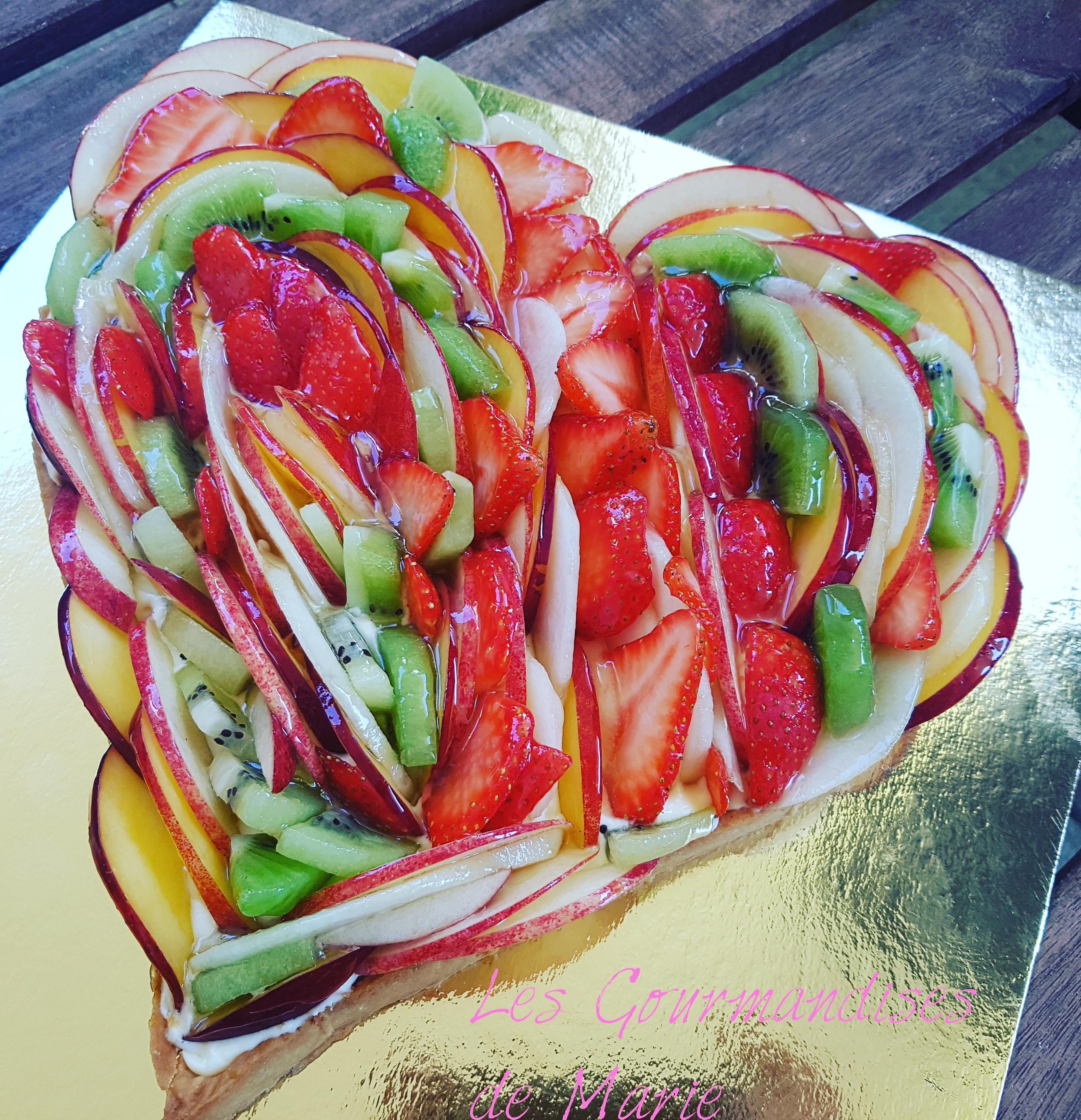 Tarte aux fruits en forme de c ur de marie cerfdellier for Beurre en special cette semaine