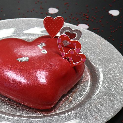 Entremets cœur à la fraise