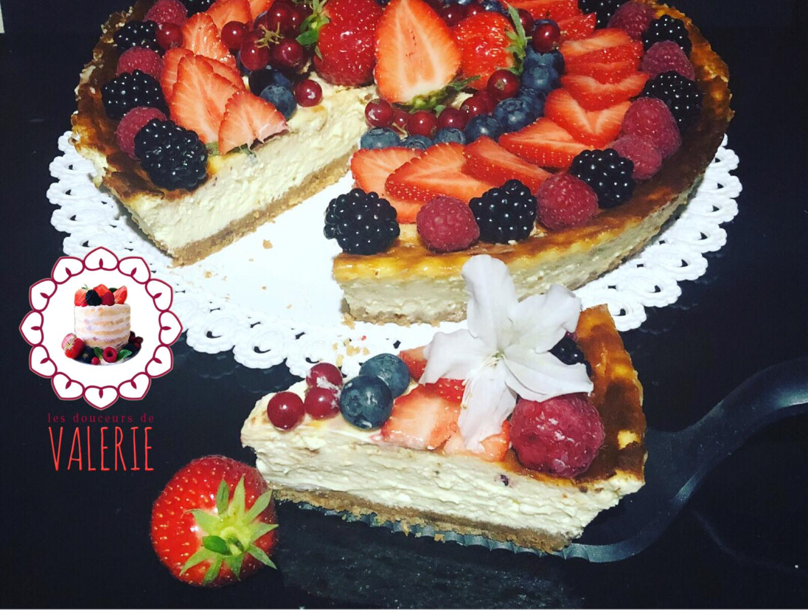 recette cheesecake aux fruits rouges de les douceurs de val rie cerfdellier le blog. Black Bedroom Furniture Sets. Home Design Ideas