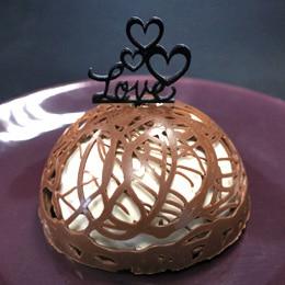 Entremets Saint Valentin griottes / vanille