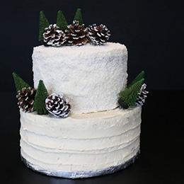 Gâteau de mariage hivernal