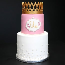Gâteau de princesse en pâte à sucre