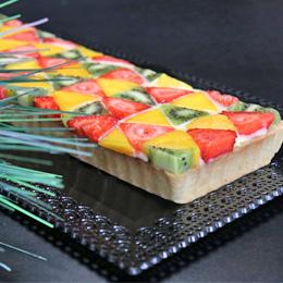 Recette tarte aux fruits géométrique