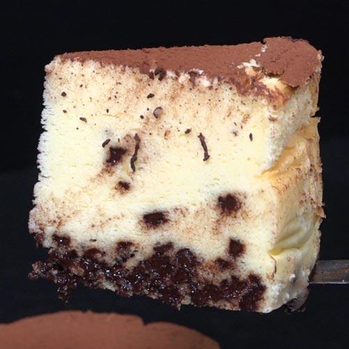 Cheesecake Japonnais – oranges confites et pépites de chocolat
