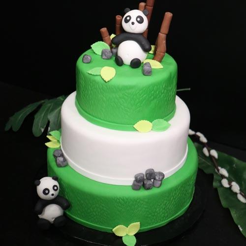 Modelage Pâte à sucre Panda