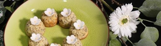Mini Fondants Citron et Graines de Pavot