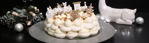 Le Number cake couronne de Noël en meringue