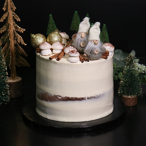Layer cake de Noel chocolat praliné