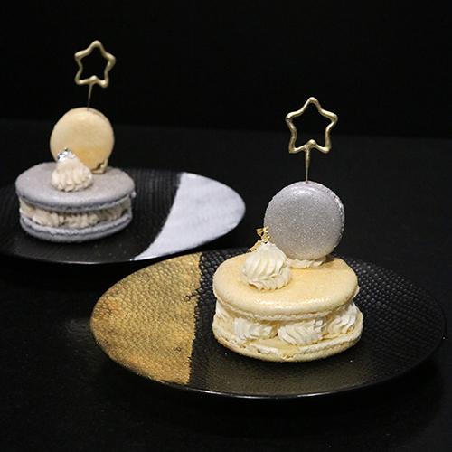 Macarons de Fête vanille gianduja et aux marrons