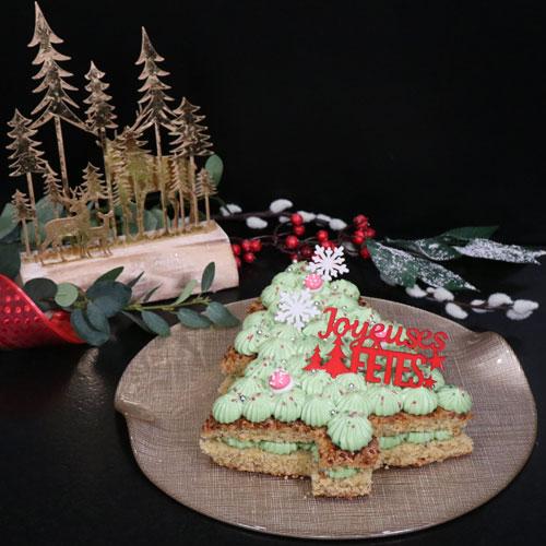 Le Number Cake Sapin à la pistache