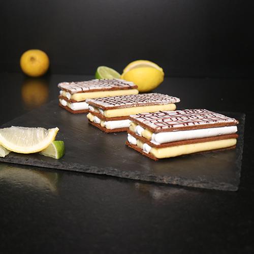Tarte au citron meringuée façon mille-feuille