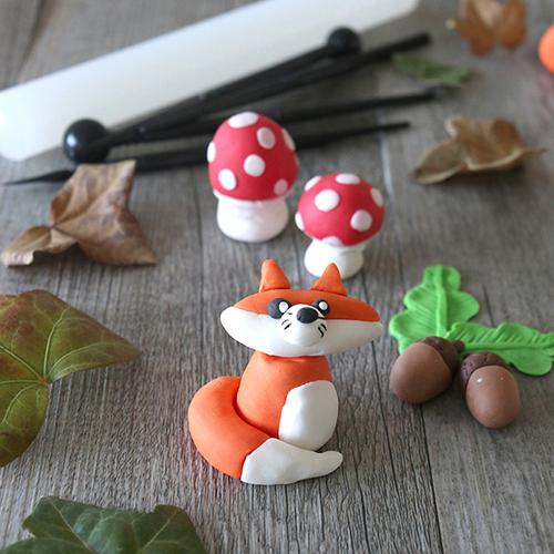 Modelages d'automne en pâte à sucre