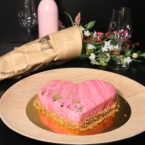 Entremets pistache framboise
