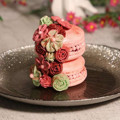 Macarons fleuris