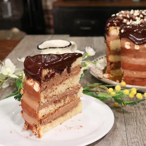 Tsunami cake au chocolat
