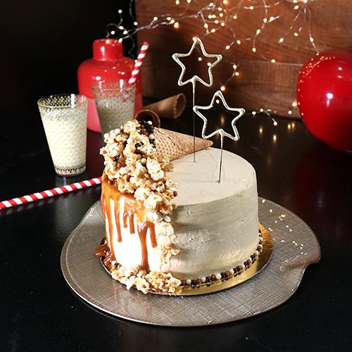 Layer cake pop-corn caramel
