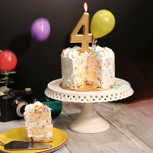 Confetti cake à la vanille