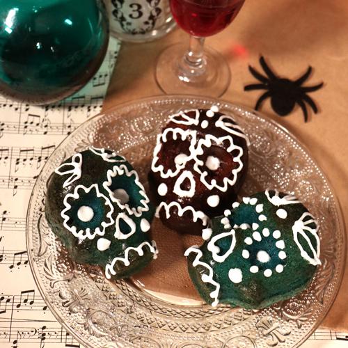 Gâteaux d'Halloween têtes de mort